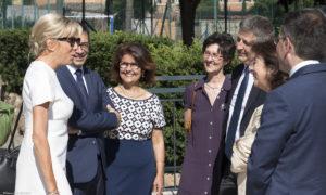Visite exceptionnelle de Madame Brigitte Macron à la Trinité-des-Monts